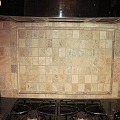 Stone backsplash, Bogart GA