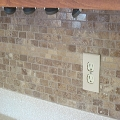 Stone backsplash, Athens GA